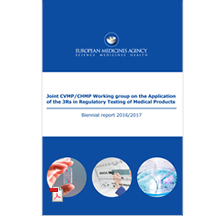 Biennial report 2016/2017 - Joint CVMP/CHMP Working group on the Application of the 3Rs in Regulatory Testing of Medical Products