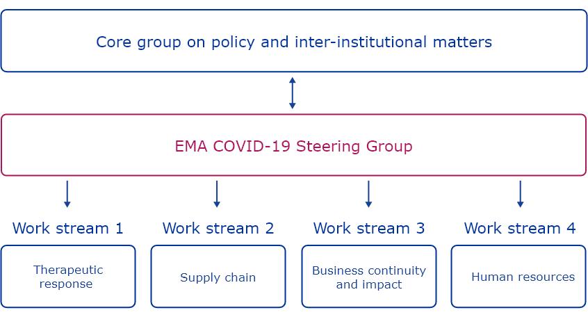 covid-19 steering group - organigram