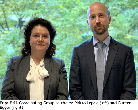 Enpr-EMA Coordinating Group co-chairs: Pirkko Lepola (left) and Gunter Egger (right)