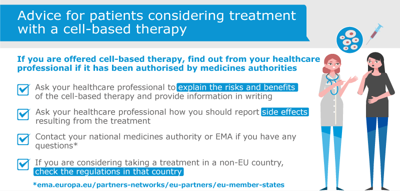 Infocard -advice for_patients considering treatments with a cell-based therapy