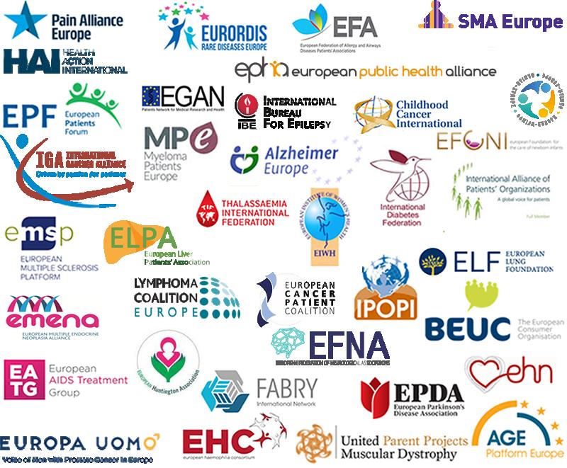 Patient organisation logos