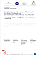 EMA and GPs joint agreement document